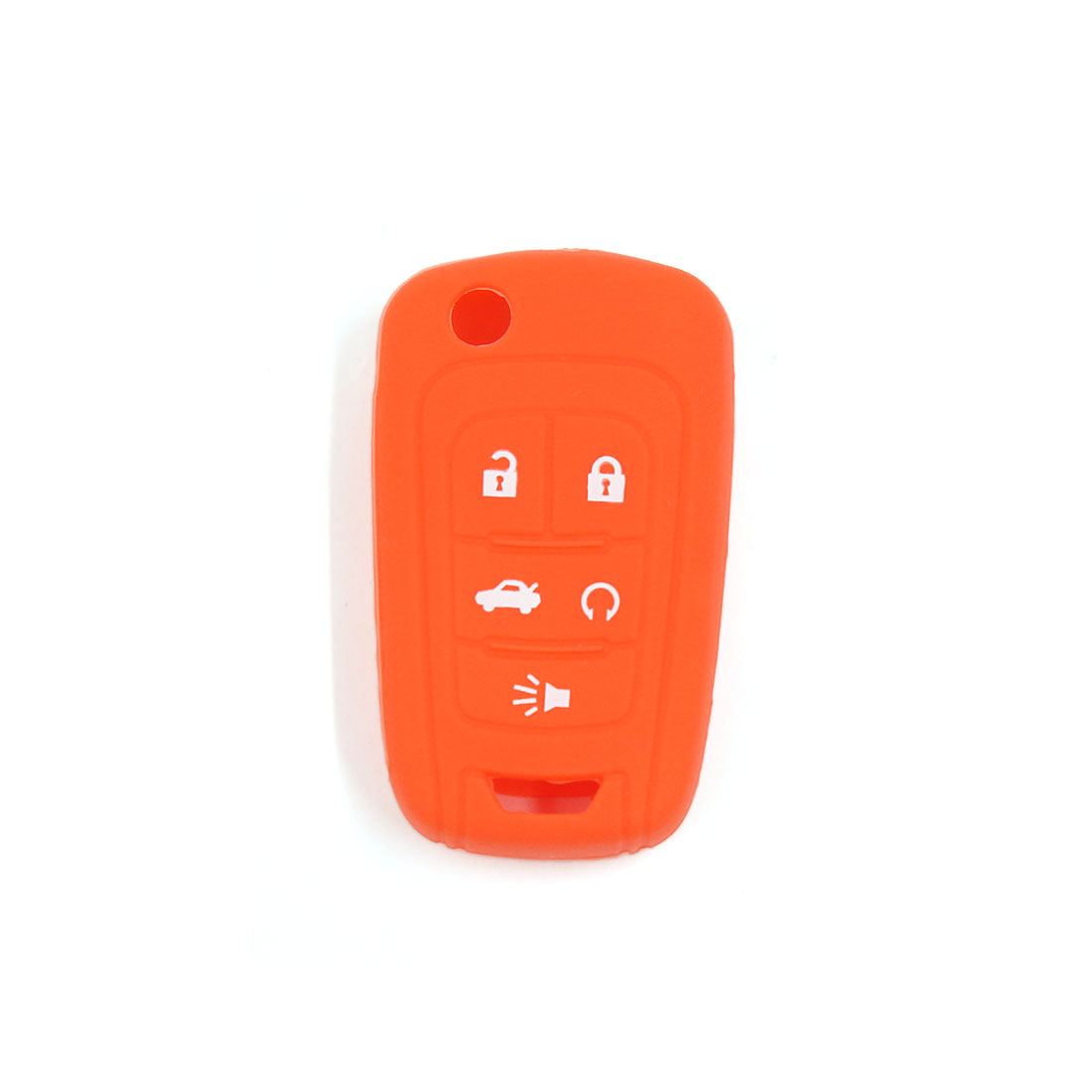 5 Buttons Orange Silicone Key Fob Case Holder Protector Cover Fits for Chevrolet