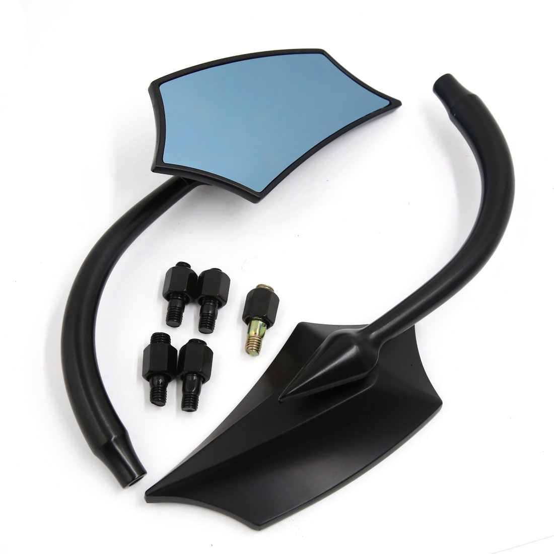 2 Pcs 10mm/8mm Adjustable Poparized Rear Side View Mirror for Motorcycle
