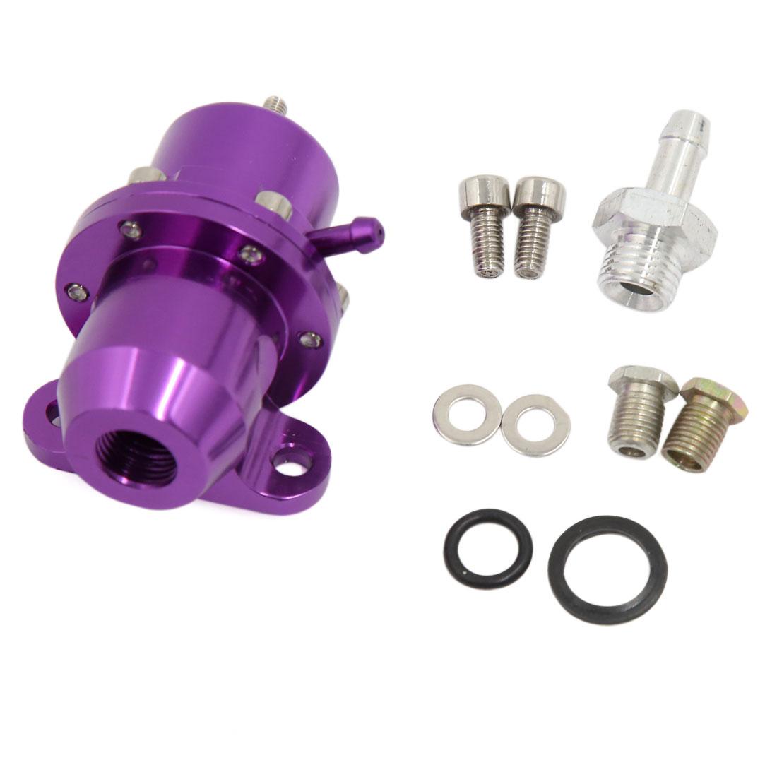 Universal Car 1:1 Ratio Bolt On Adjustable Fuel Pressure Regulator Purple
