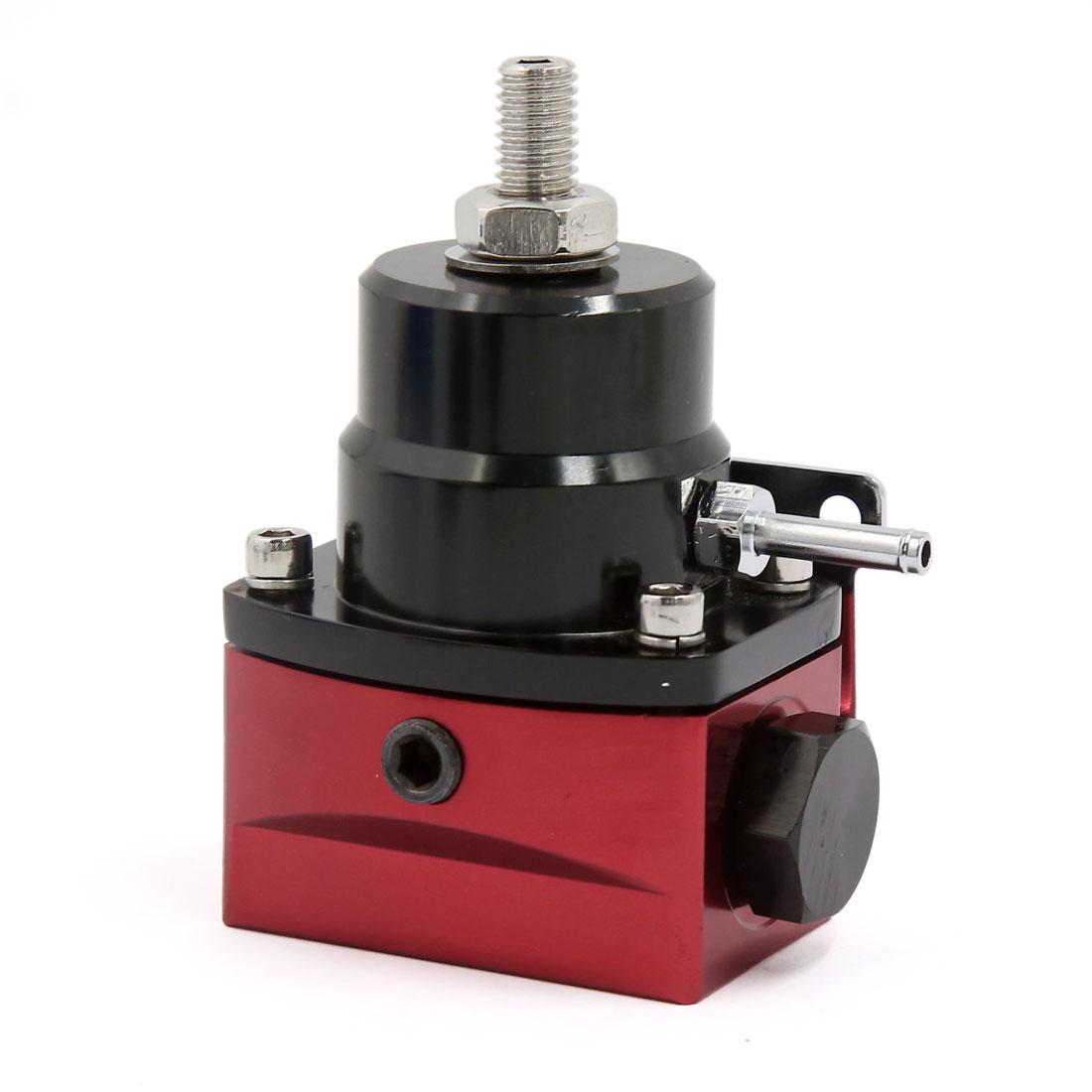 6AN Port Universal Adjustable Injected Bypass Fuel Pressure Regulator Black Red