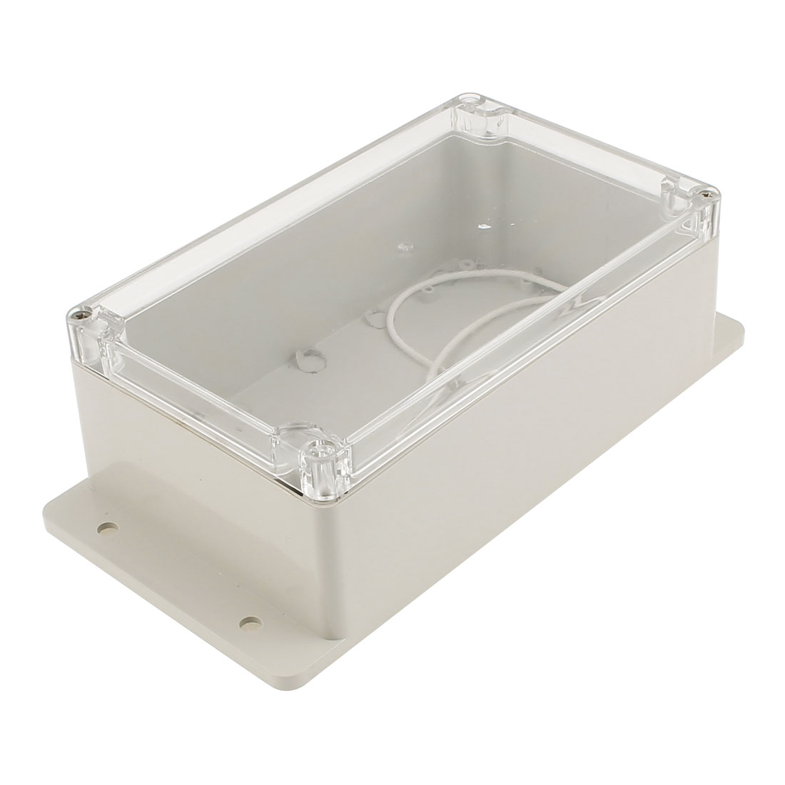 240x120x72mm Dustproof IP65 Junction Box Terminal Connect Enclosure Clear Cover