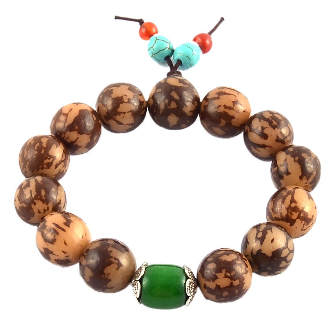 Handmade DIY Craft Stretch Round Beads Prayer Wrist Bangle Bracelet Colorful