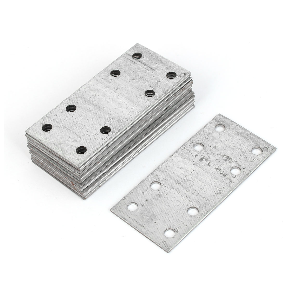 80mmx37mm Stainless Steel Flat Corner Straight Repair Plate Bracket 15 Pcs