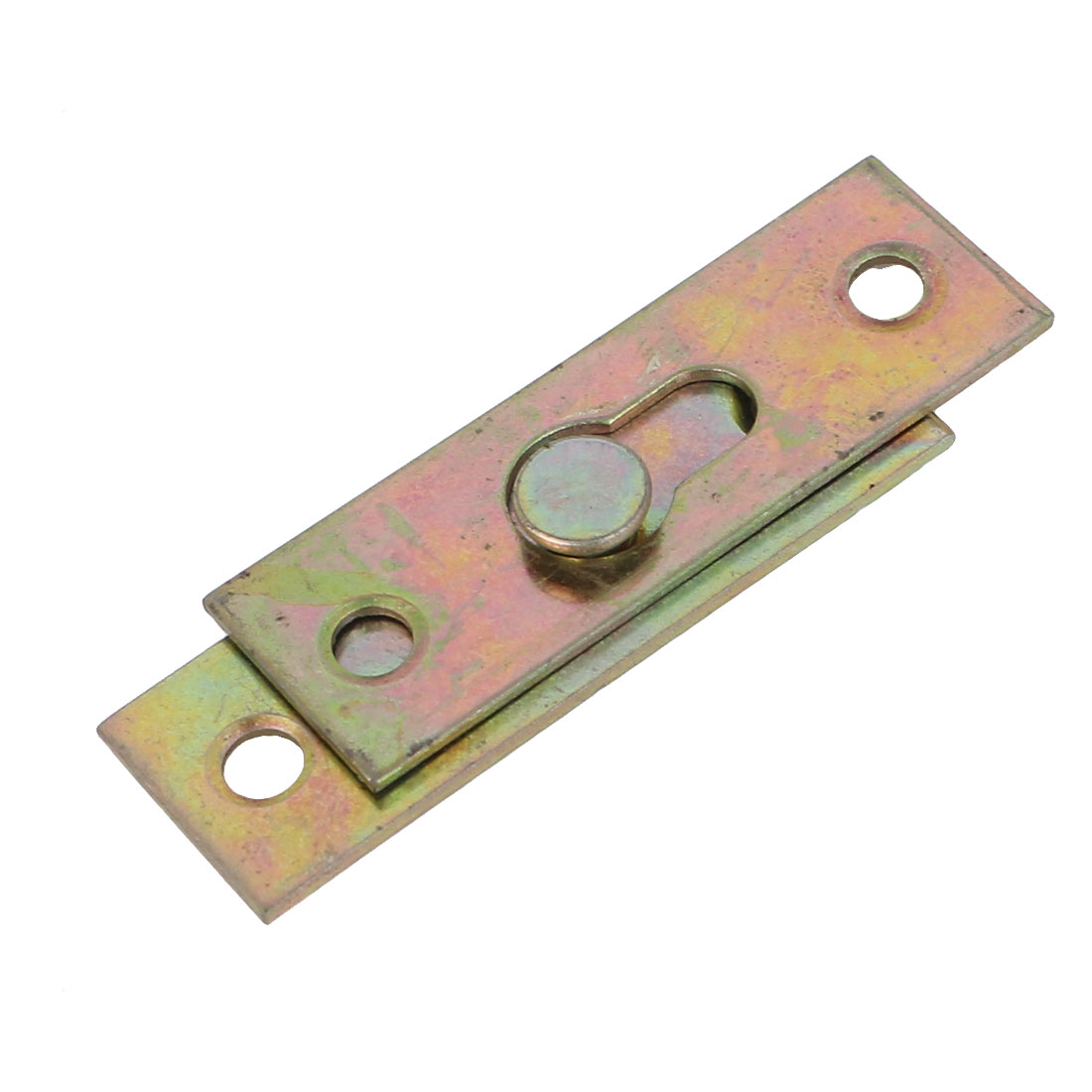Furniture Bed Rail Hook Plate Bracket Connector Brass Tone