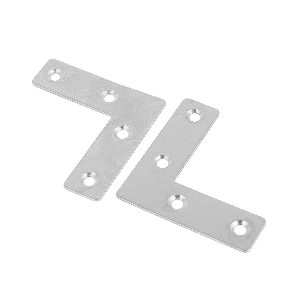 51mmx51mm 90 Degree L Shaped Stainless Steel Angle Bracket Corner Brace 2 Pcs