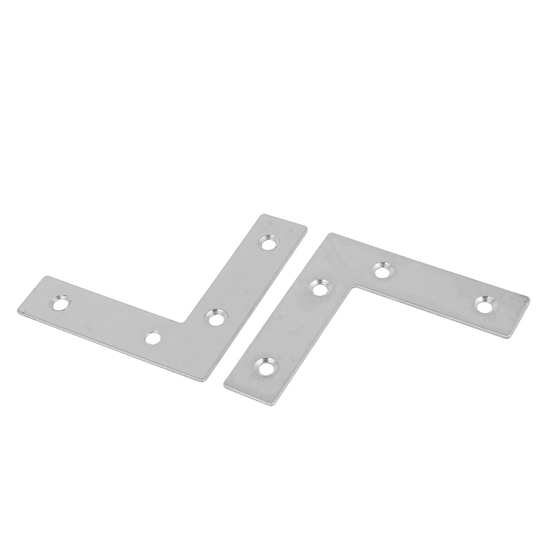 60mmx60mm L Shaped Stainless Steel Angle Bracket Corner Brace Joint 2 Pcs