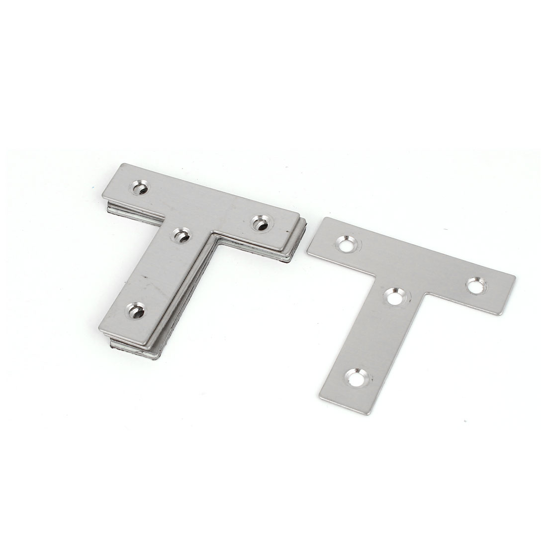 60mmx60mm T Shaped Stainless Steel Angle Bracket Corner Brace Fastener 5 Pcs