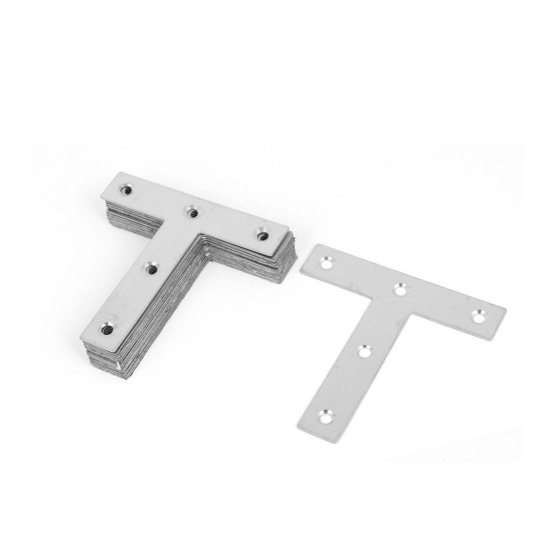 80mmx80mm T Shaped Flat Stainless Steel Angle Bracket Corner Brace Joint 15 Pcs