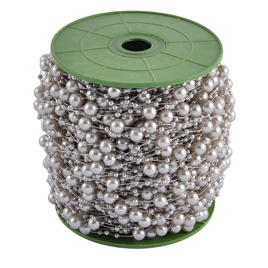 Festival Party Crafting DIY Garland Flower Table Decoration Imitation Pearl Beads String Roll Gray