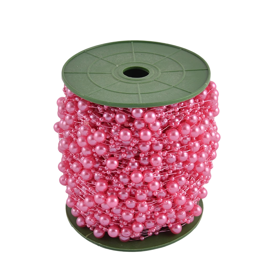 Wedding Party Crafting DIY Garland Flower Table Decoration Imitation Pearl Beads String Roll Fuchsia