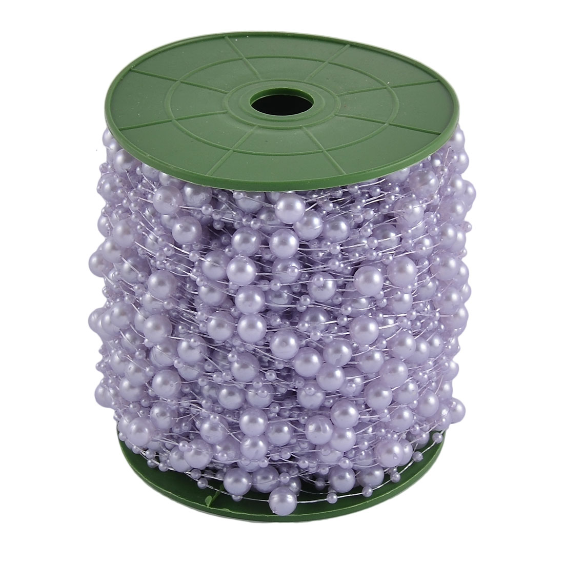 Festival Party Crafting DIY Garland Flower Table Decoration Imitation Pearl Beads String Roll Pale Purple
