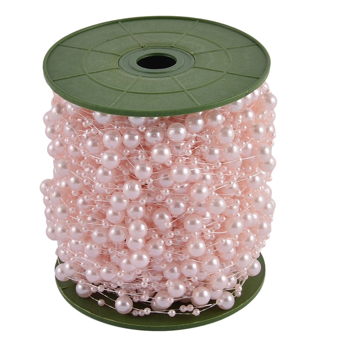 Wedding Party Crafting DIY Garland Flower Table Decoration Imitation Pearl Beads String Roll Light Pink