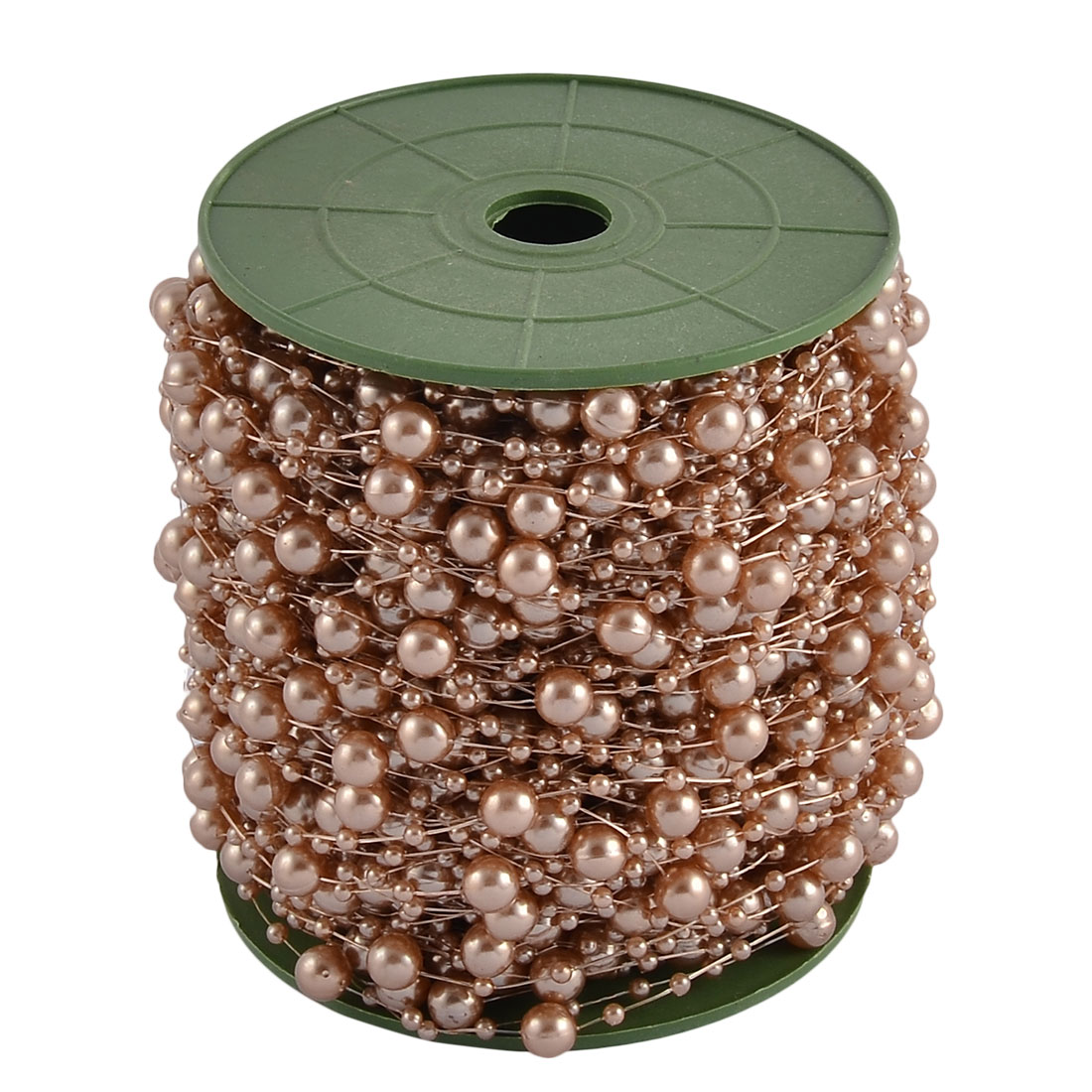 Festival Party Crafting DIY Garland Flower Table Decoration Imitation Pearl Beads String Roll Tan
