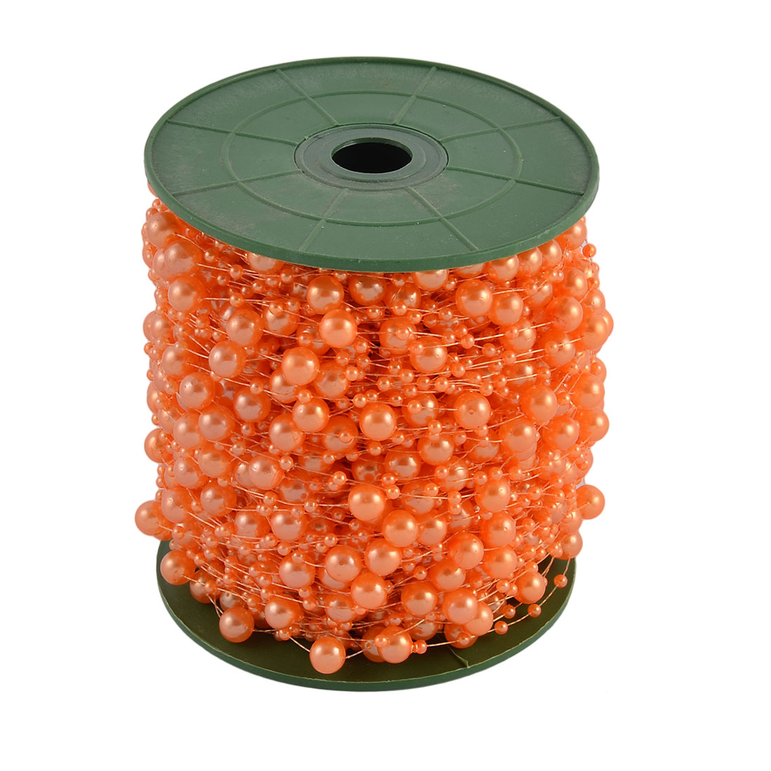 Festival Party Crafting DIY Garland Flower Table Decoration Imitation Pearl Beads String Roll Orange