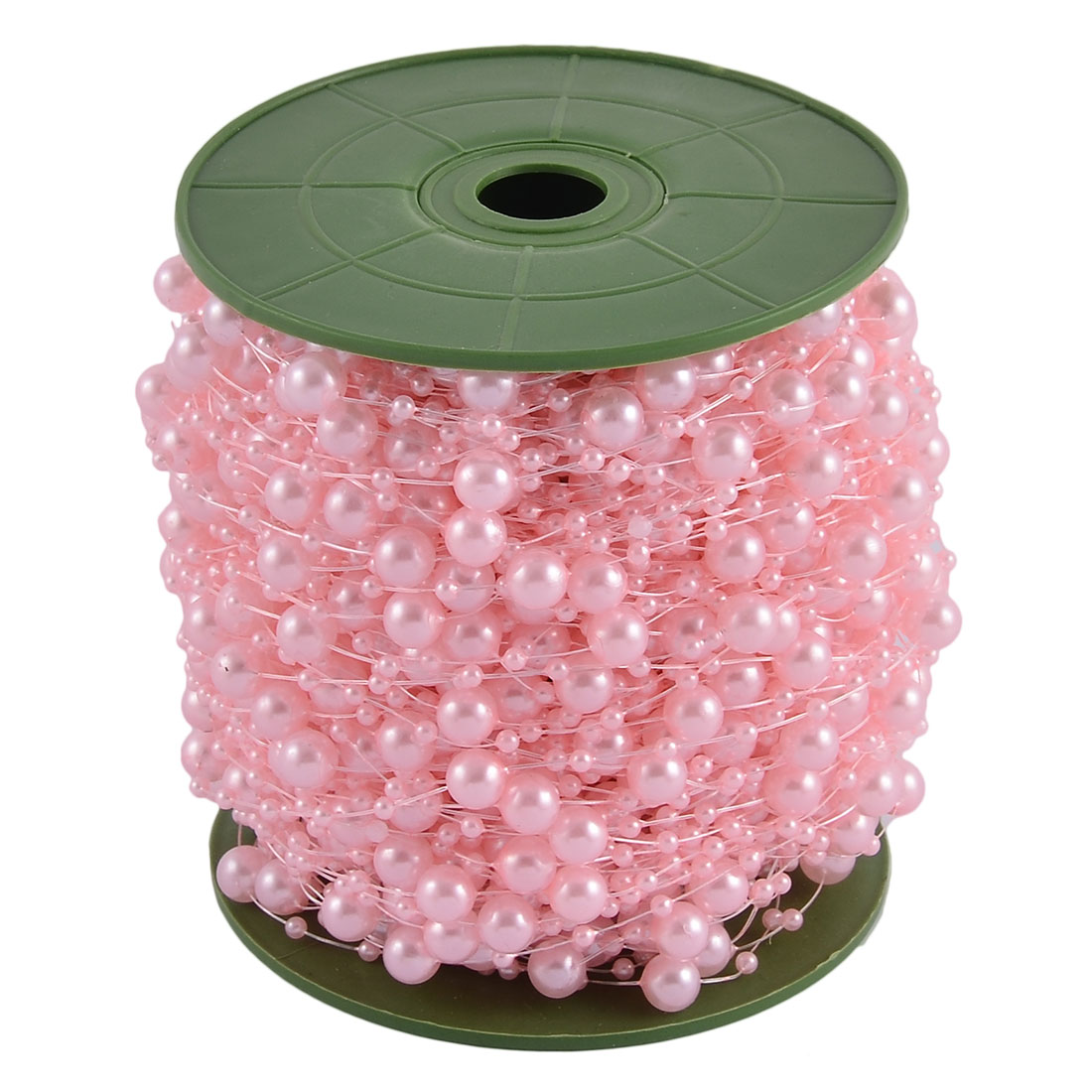 Wedding Party Crafting DIY Garland Flower Table Decoration Imitation Pearl Beads String Roll Pink