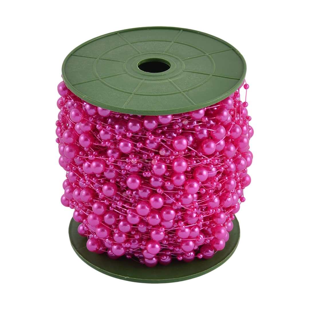 Wedding Party Crafting DIY Garland Flower Table Decoration Imitation Pearl Beads String Roll Purple