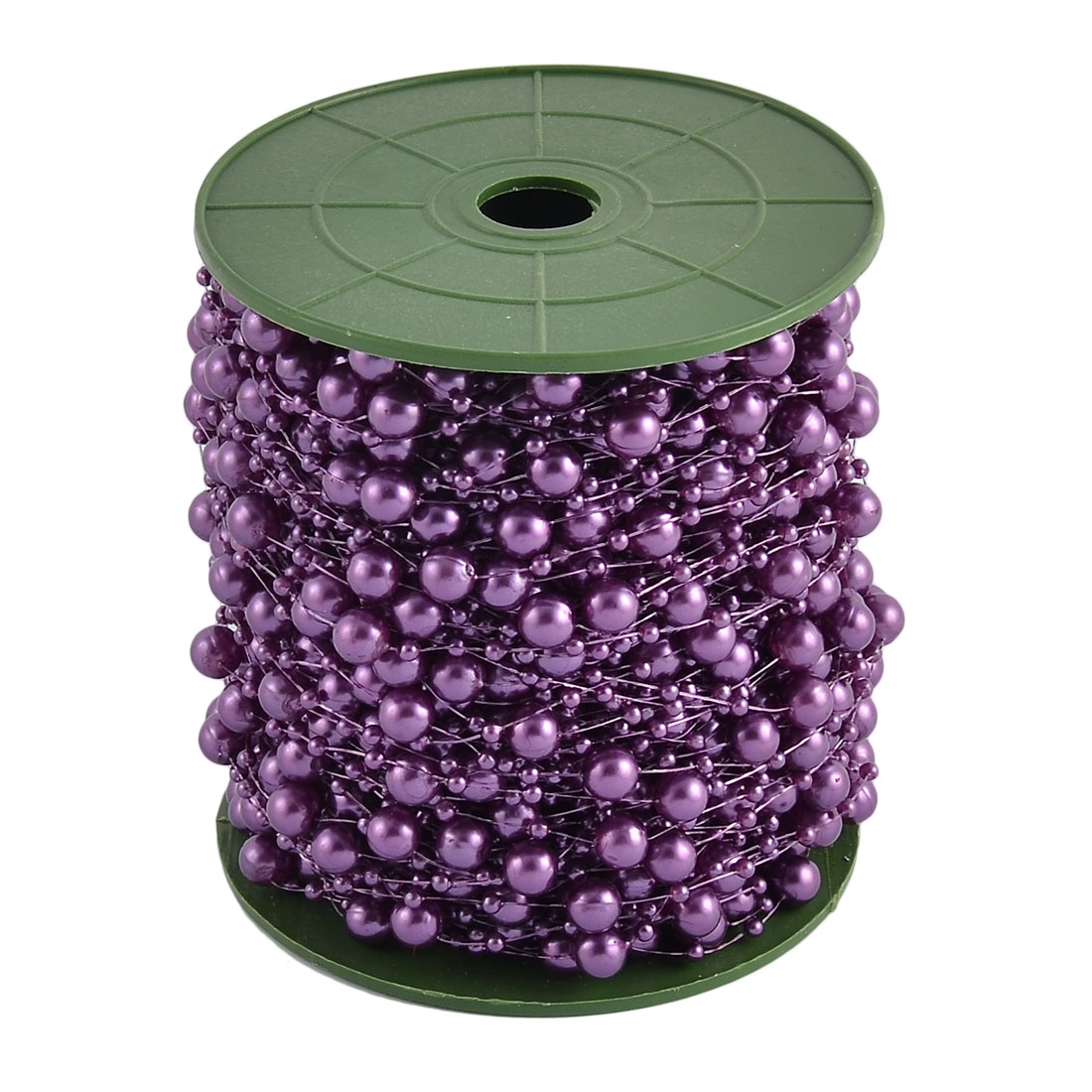 Wedding Party DIY Garland Flower Table Decoration Imitation Pearl Beads String Roll Dark Purple