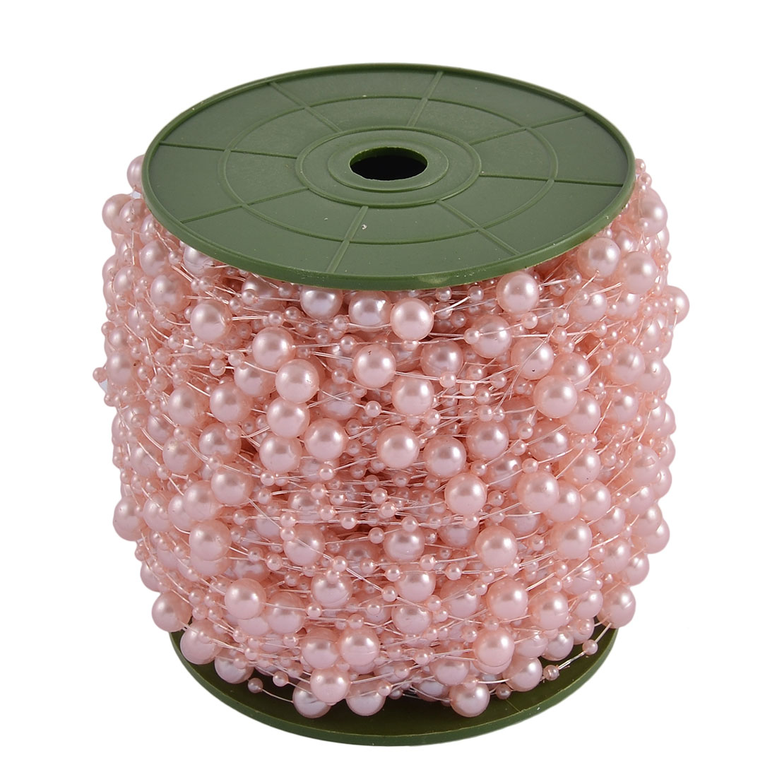 Wedding Party Crafting DIY Garland Flower Table Decoration Imitation Pearl Beads String Roll Pale Pink