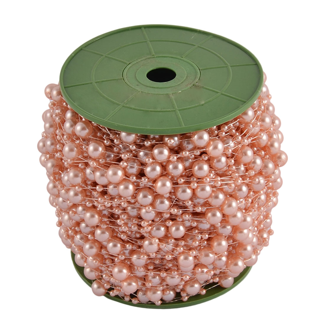 Wedding Crafting DIY Garland Flower Table Decoration Imitation Pearl Beads String Roll Flesh Pink