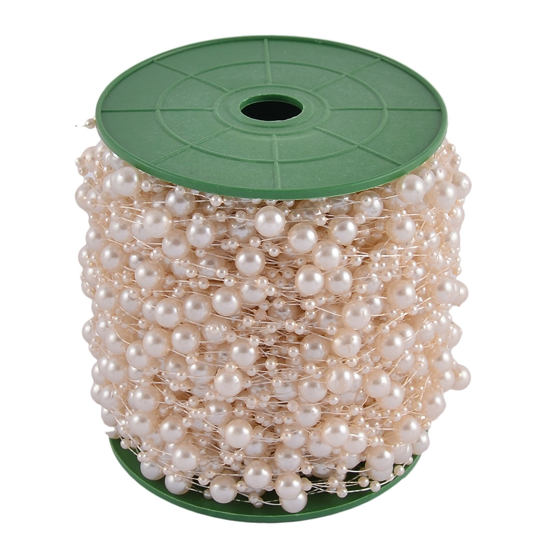 Festival Party Crafting DIY Garland Flower Table Decoration Imitation Pearl Beads String Roll Off White