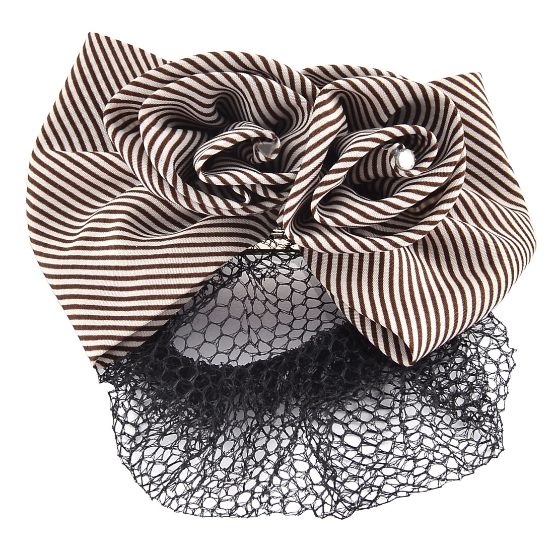 Women Nylon DIY Hairstyle Hairdressing Bowtie Decor Snood Net Holder Hairclip