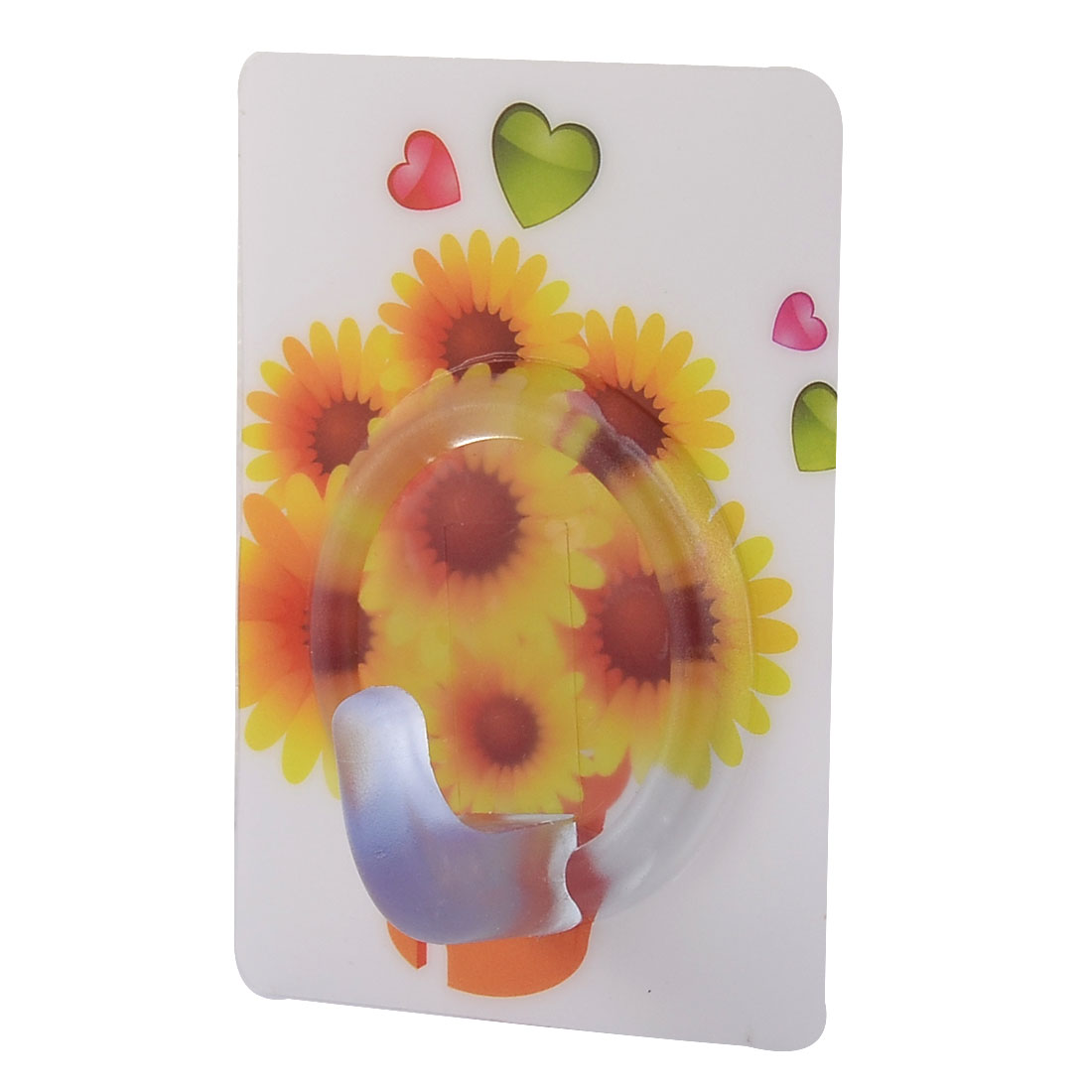 Home Bedroom Sunflower Pattern No Scratch Towel Clothes Hanging Self Adhesive Hook
