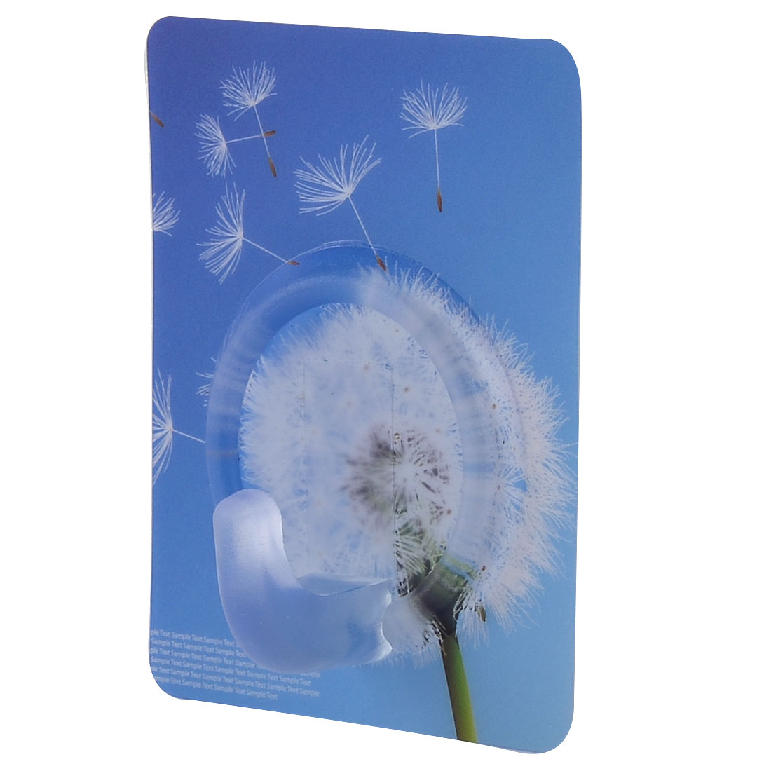 Home Wall Dandelion Pattern No Scratch Towel Hanging Powerful Self Adhesive Hook