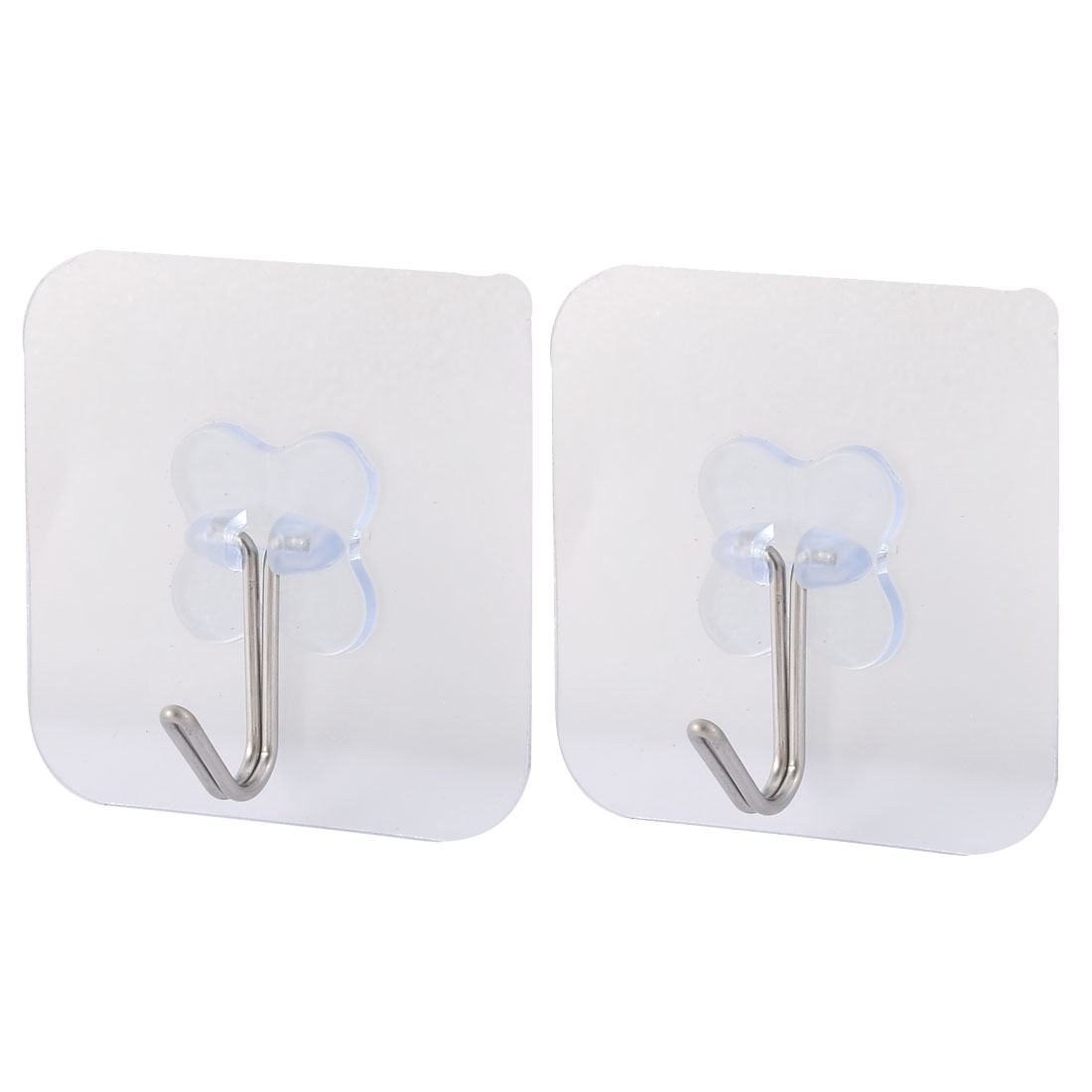 Home Wall Door No Scratch Clothes Scarf Hanger Self Adhesive Seamless Hook 2pcs