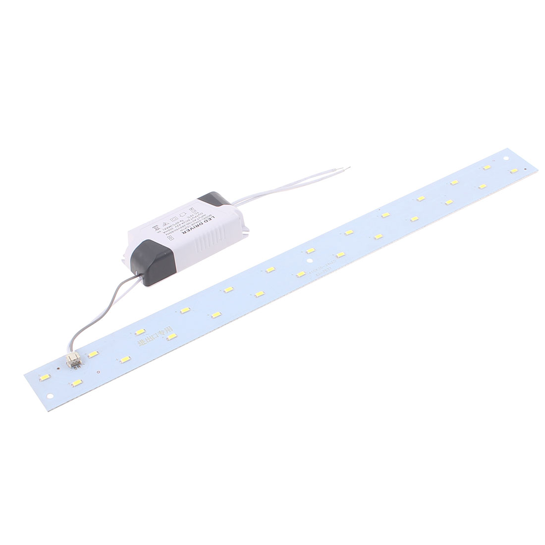 AC100~265V 12W LED Ceiling light Panel 2 Rows Long Strip Retrofit Plate Pure White 40cm