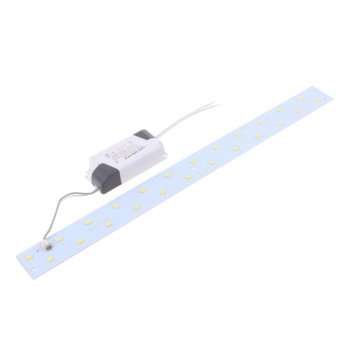 AC100~265V 12W LED Ceiling light Panel 2 Rows Long Strip Retrofit Plate Warm White 40cm