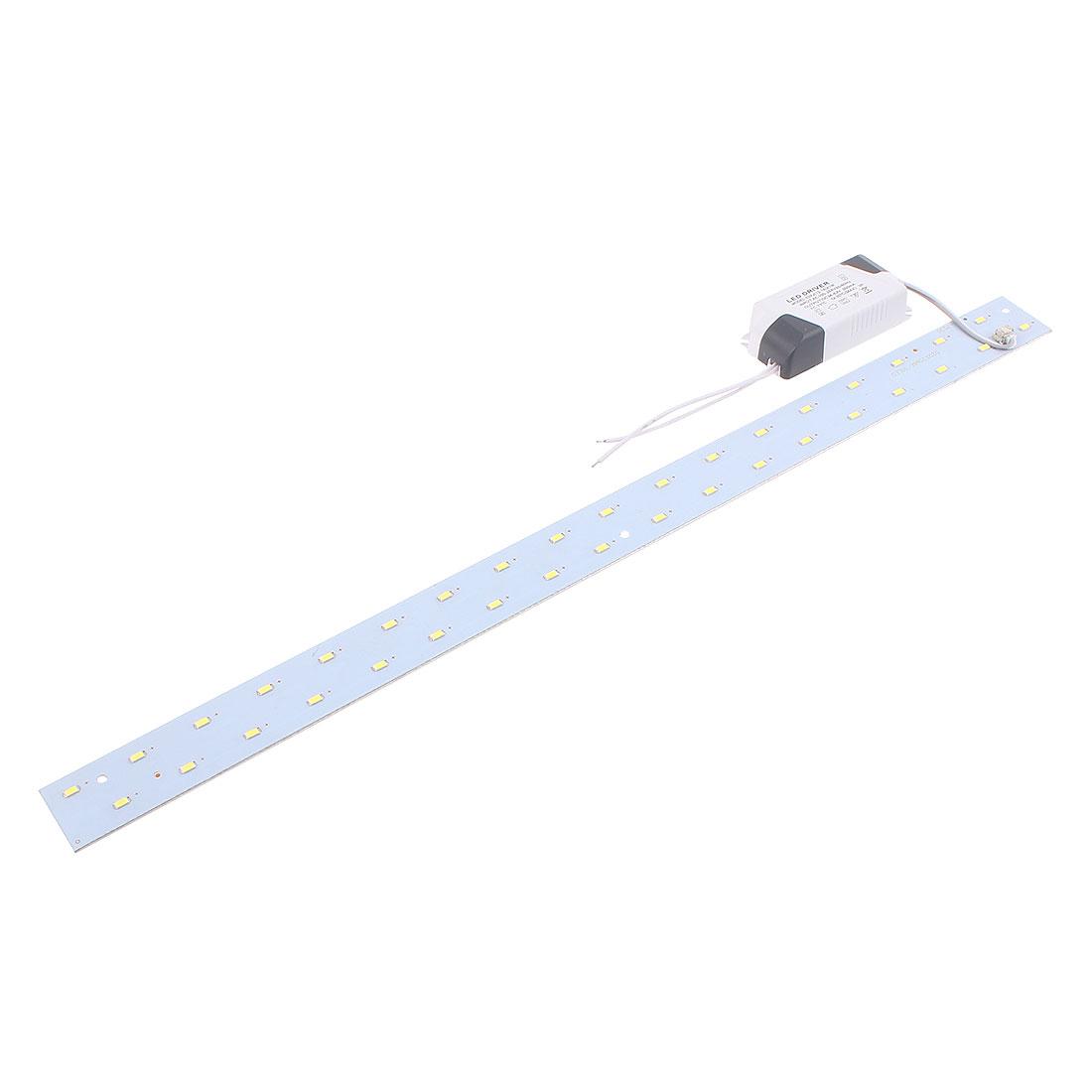 AC100~265V 18W LED Ceiling light Panel Long Strip Retrofit Plate Pure White 52cm