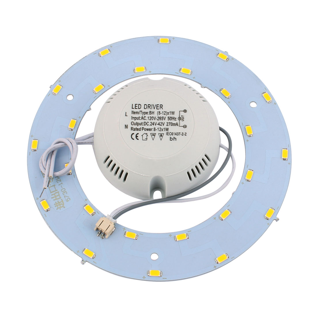 12W LED Light Panel Circle Annular 5730 SMD Saving Plate Practical Ceiling Lamp Warm White