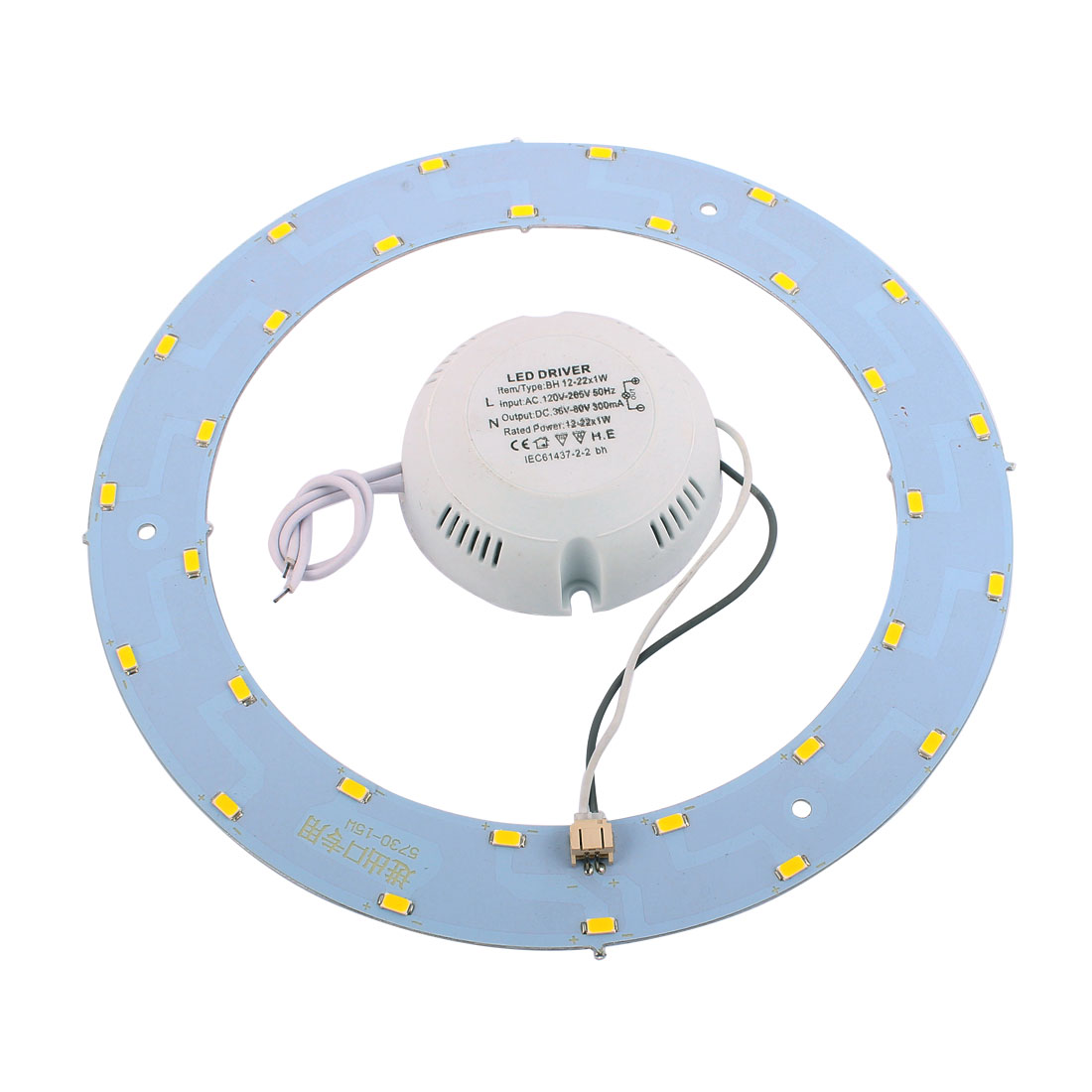 15W 30 LED Light Panel Circle Annular 5730 SMD Saving Plate Practical Ceiling Lamp Warm White