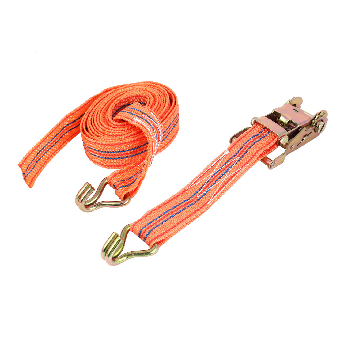 Truck Motorcycle Luggage Binding Double Hooks Ratchet Tie Down Strap 6M Long