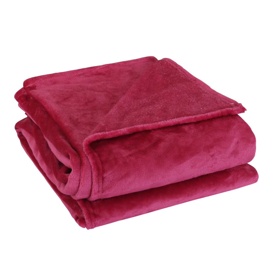 230 x 250cm Home Bedroom Warm Throw Blanket Rug Plush Fleece Bed Quilt Sofa Soft Pure Fuchsia