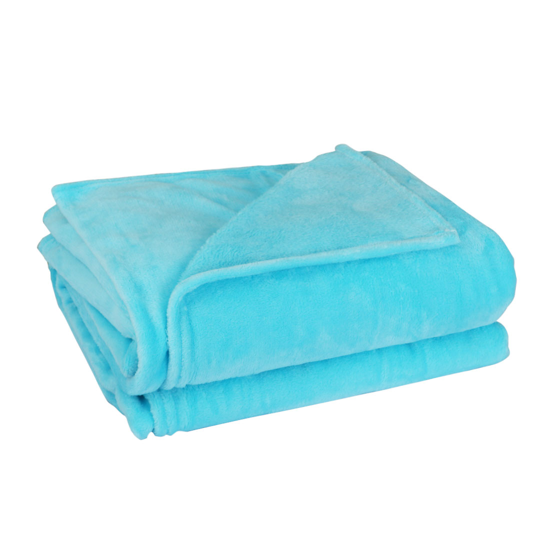 230 x 250cm Home Bedroom Warm Throw Blanket Rug Plush Fleece Bed Quilt Sofa Soft Pure Blue