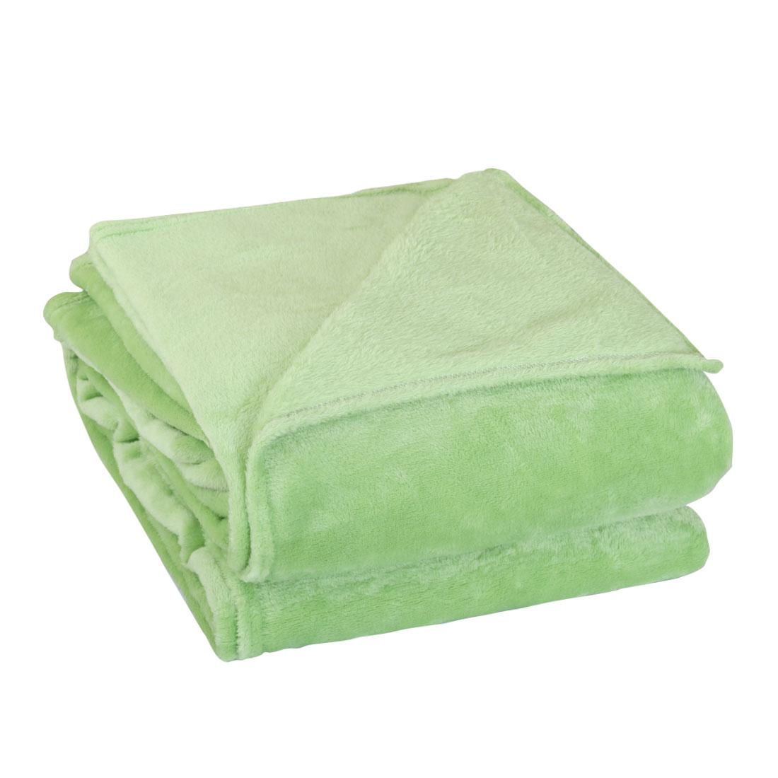 230 x 250cm Home Bedroom Warm Throw Blanket Rug Plush Fleece Bed Quilt Sofa Soft Pure Light Green