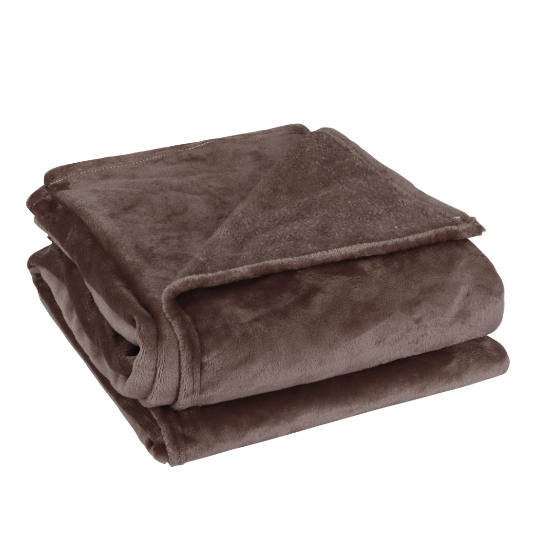 230 x 250cm Home Bedroom Warm Throw Blanket Rug Plush Fleece Bed Quilt Sofa Soft Pure Coffee Color