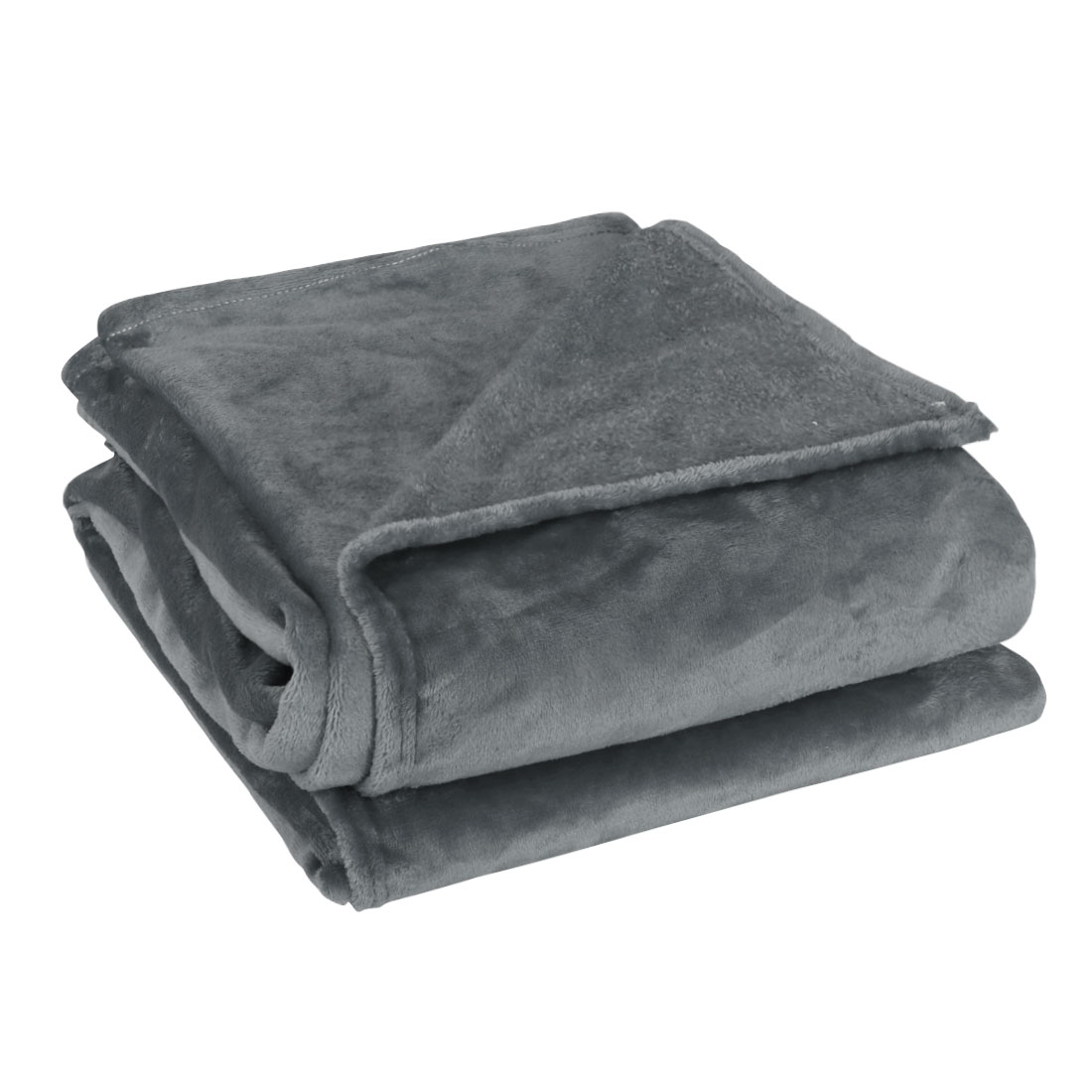 230 x 250cm Home Bedroom Warm Throw Blanket Rug Plush Fleece Bed Quilt Sofa Soft Pure Dark Gray