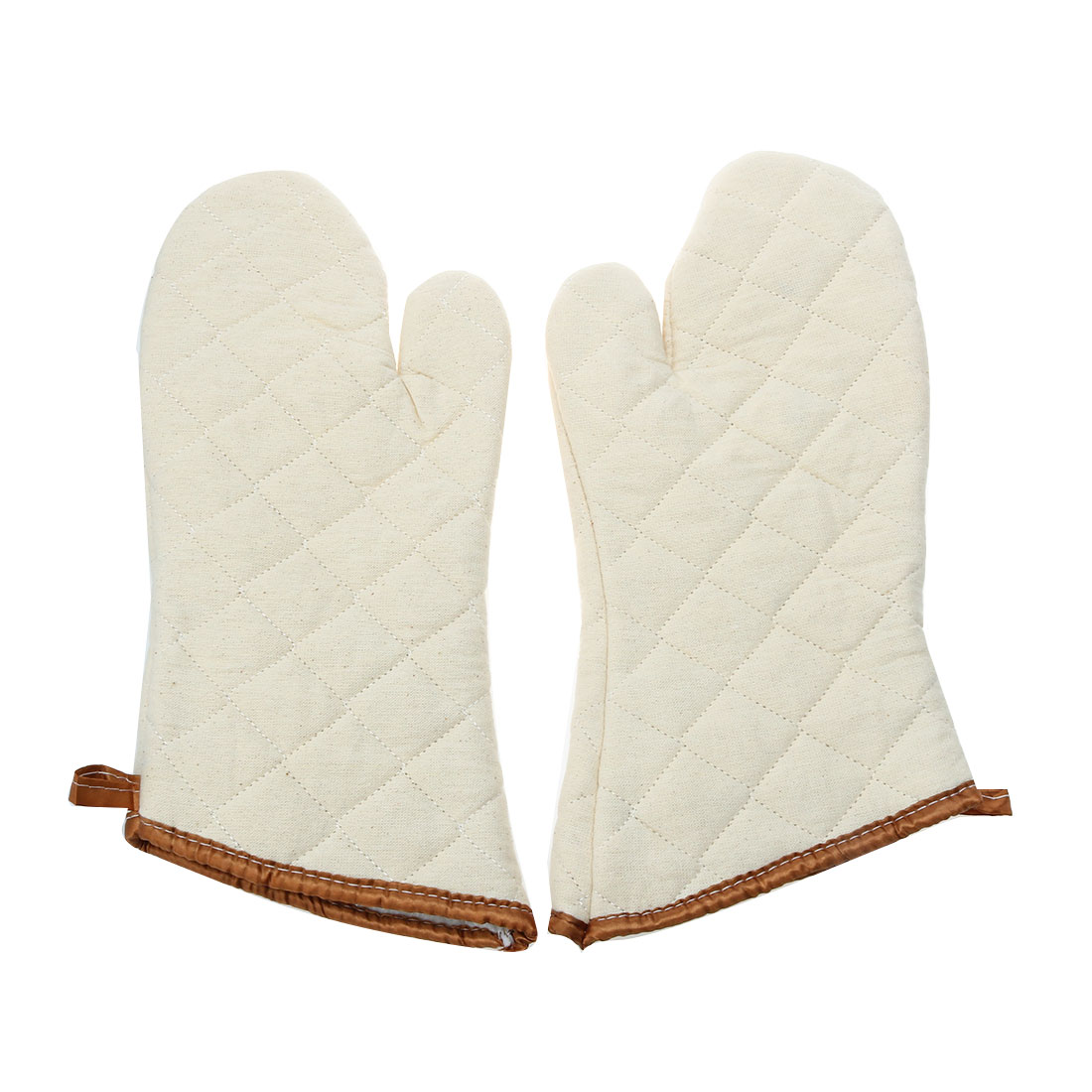 Kitchen Bakery Heat Hot Resistance Microwave Barbeque Baking Oven Mitts Gloves Pair