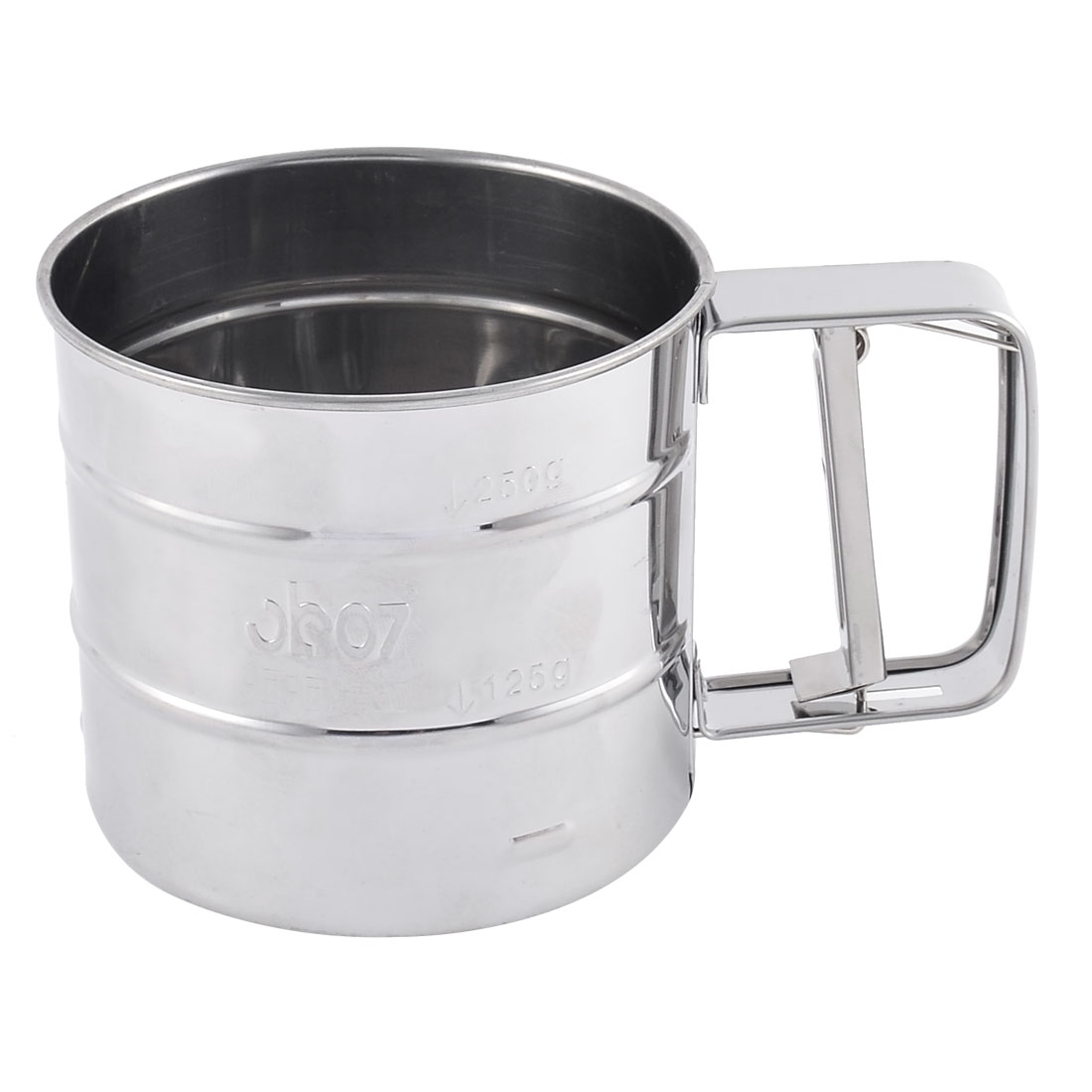 Home Kitchen Baking Stainless Steel Flour Sugar Mesh Sifter Shaker Silver Tone