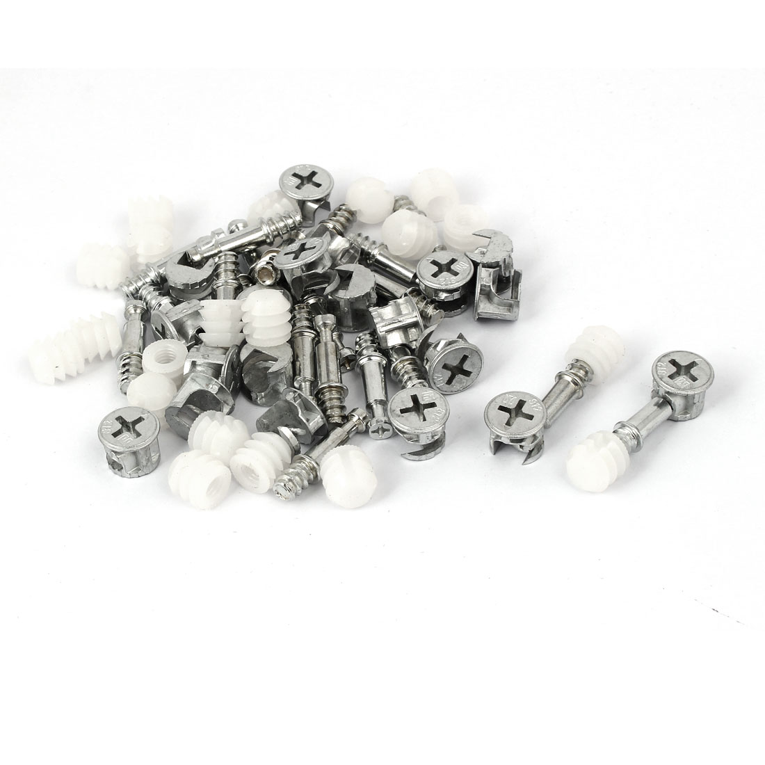 Furniture Connecting Dowel Wheel Nut Cam Fitting 13mmx10mm Dia 20 Sets