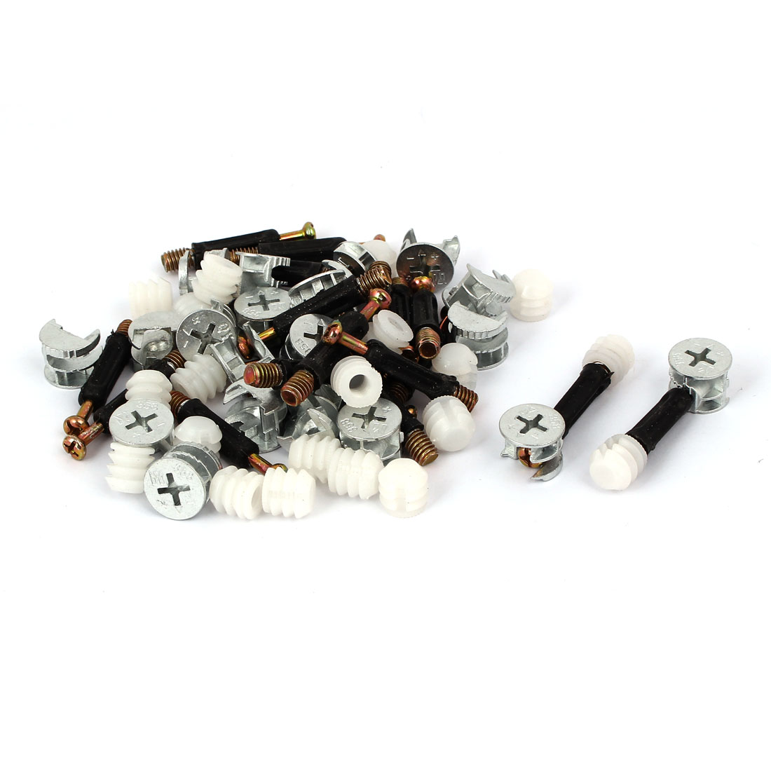 Furniture Connecting Eccentric Cam Fitting Dowel Pre-inserted Nut 20 Sets