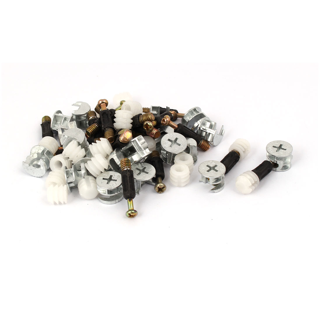 Furniture Connecting Eccentric Cam Dowel Inserted Nut Fitting 20 Sets