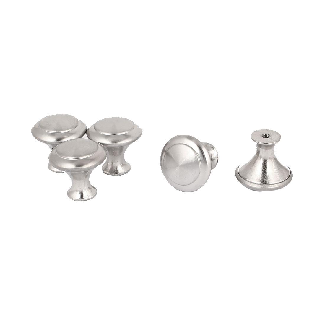 Kitchen Cabinet Dresser Mushroom Shape Pull Knob Hardware 5pcs