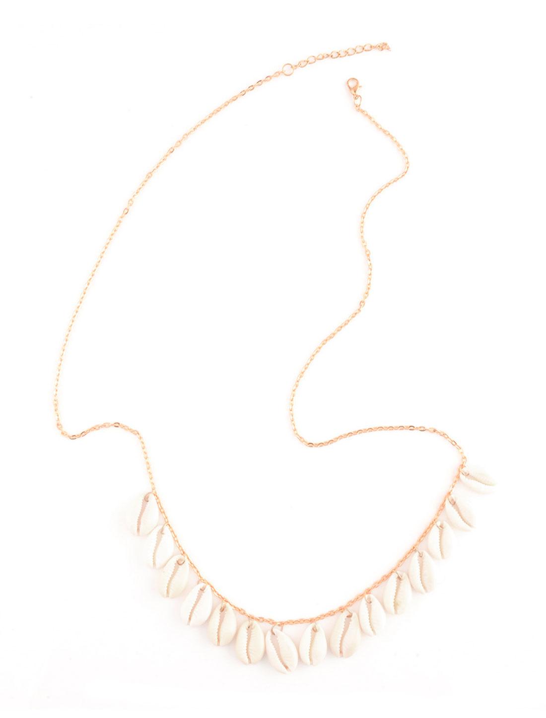 Women Lobster Clasp Shell Pendant Decor Waist Chain Gold