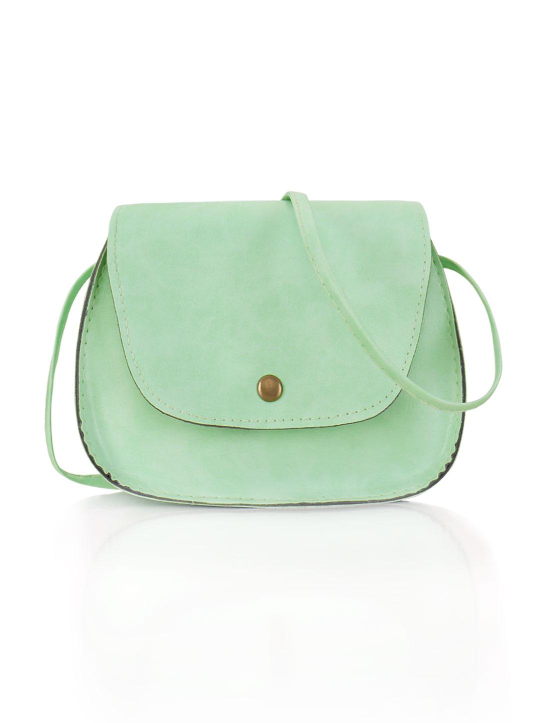 Women Detachable Strap Snap-Magnetic Closure Crossbody Bag Green