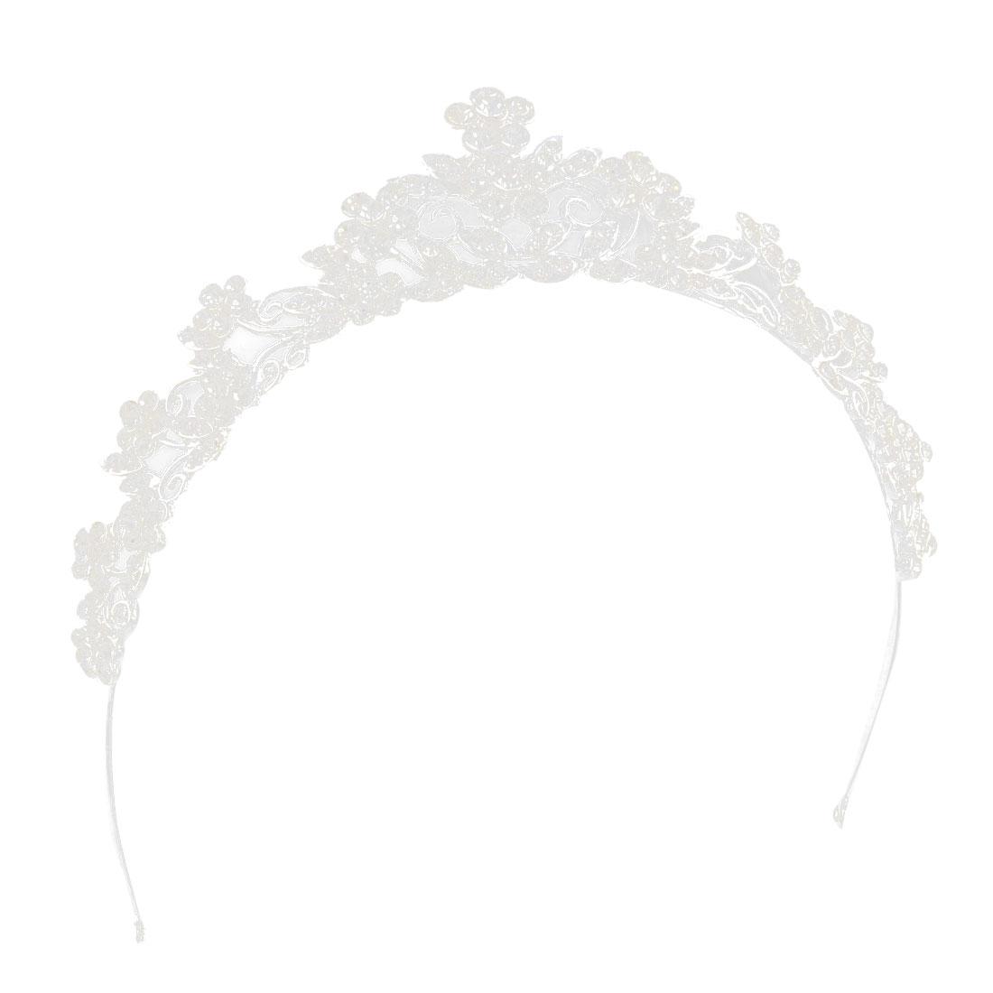 Bridal Bride Rhinestone Inlaid Floral Headpiece Crown Tiara Decoration