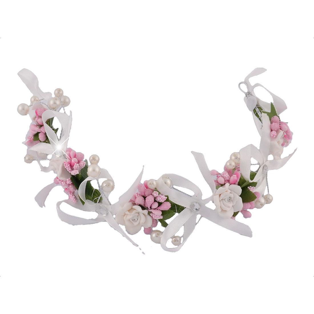 Bridal Wedding Handmade Polymer Clay Flower Detail Hair Band Headband