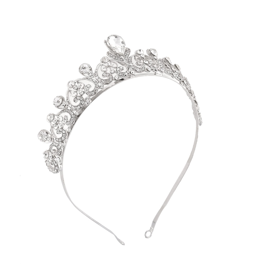 Women Wedding Bridal Party Rhinestone Crown Diadem Headband Frontlet Headdress